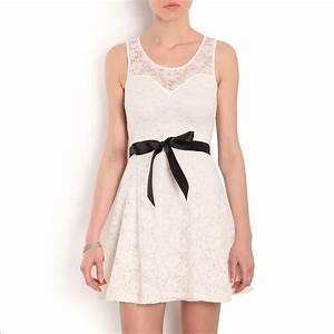 morgan robe en dentelle blanche brandalley With robe dentelle morgan