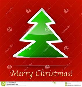 Merry Christmas Gift Card With A Simple Christmas Tree ...