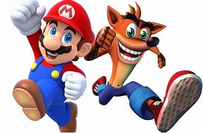 Crash Mario Bandicoot Nintendo Party Crossover