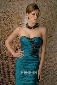 robe bustier vert fonce pour soiree mariage ou cocktail With robe habillée pour mariage avec diamant bijoux