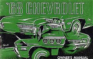 1968 Chevy Owner U0026 39 S Manual Reprint Impala Caprice Bel Air