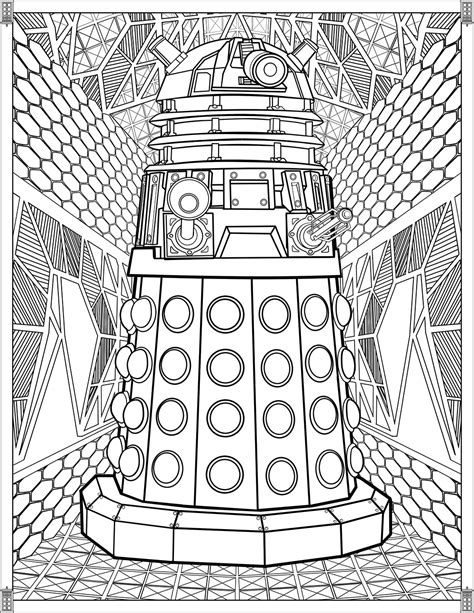 doctor  wibbly wobbly timey wimey coloring pages