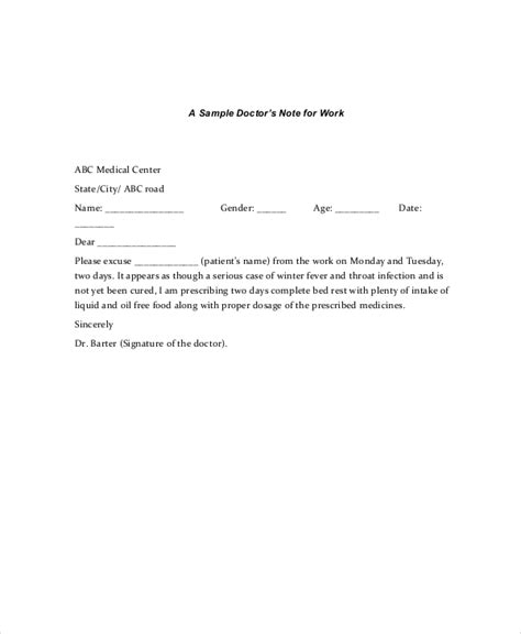 printable doctors note for work doctors note template 11 free word pdf psd documents
