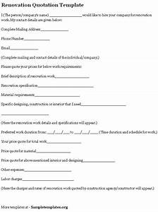 Quote Worksheet Template 17 Best Images Of Home Remodel Budget Worksheet