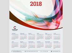 2018 business calendar template vectors 10 free download