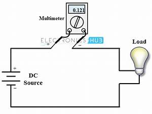 current measurement using multimeter With circuit and the lighter leads will measure the voltage across the