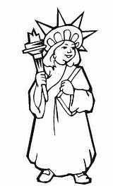 Liberty Statue Coloring Pages Printable Drawing Outline July 4th Lady Independence Torch Fourth York Clipartmag Flag Getcoloringpages Ellis Island sketch template