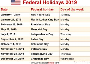 Chinese Calendar 2019 Holidays