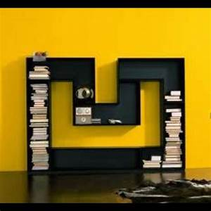 bookcase bookshelf in the shape of the letter quotm With letter shaped bookcase