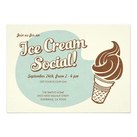 Retro Style Ice Cream Social Invitations Ice cream
