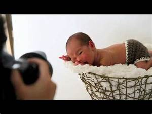 Newborn photo shoot - YouTube