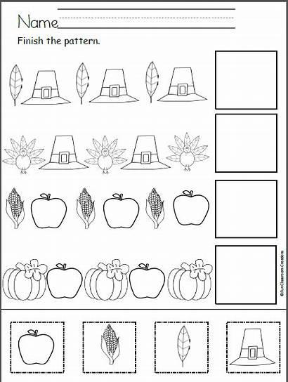 Thanksgiving Cut Paste Patterns Worksheets Pattern Kindergarten