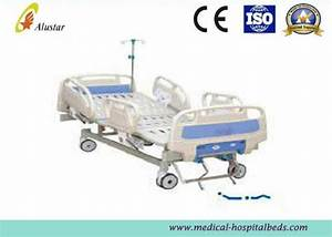 Abs Handrail Medical Adjustable Hospital Beds Stainless