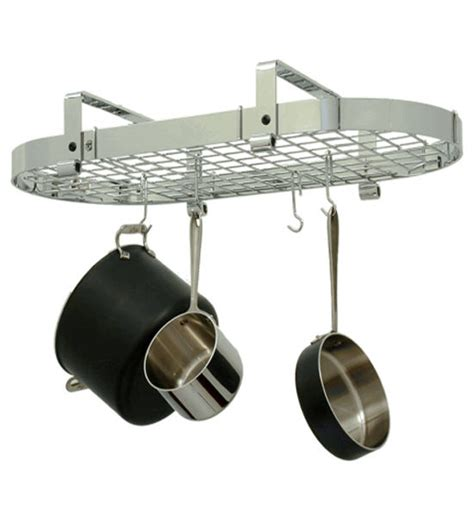 low ceiling oval pot rack in hanging pot racks