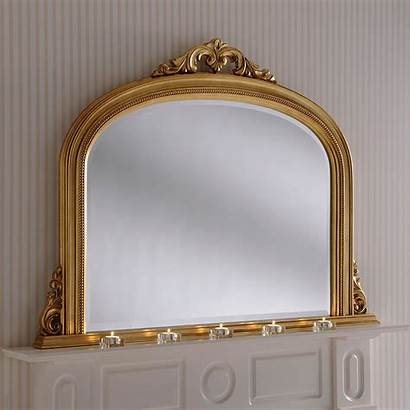 Gold Overmantle Mirror Mirrors Antique French Decorative