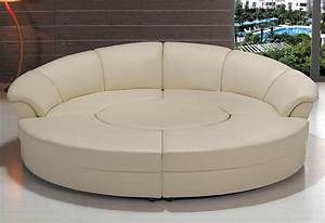 contemporary circle white leather sectional sofa set w With sectional sofas circle furniture