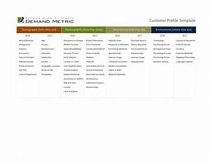 customer profile template With sales customer profile template