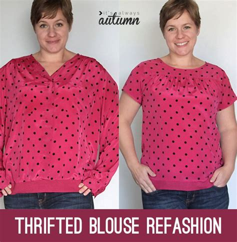 Thrifted Blouse Refashion  Refashioning, Upcycle And