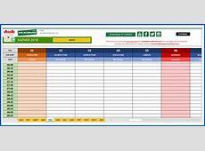 Agenda 2018 em Excel personalizável Download Grátis