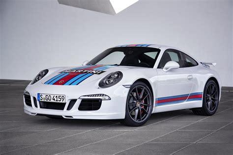 porsche white car porsche 911 carrera s martini racing edition arrives for