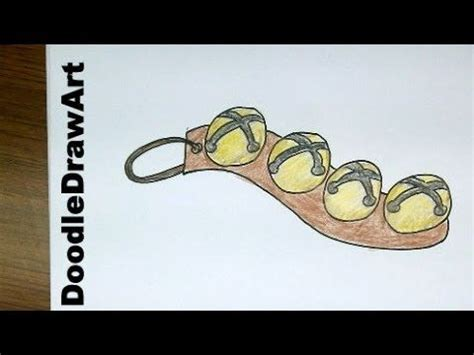 how to draw a jingle bell drawing how to draw cartoon sleigh bells easy to draw for kids youtube very easy