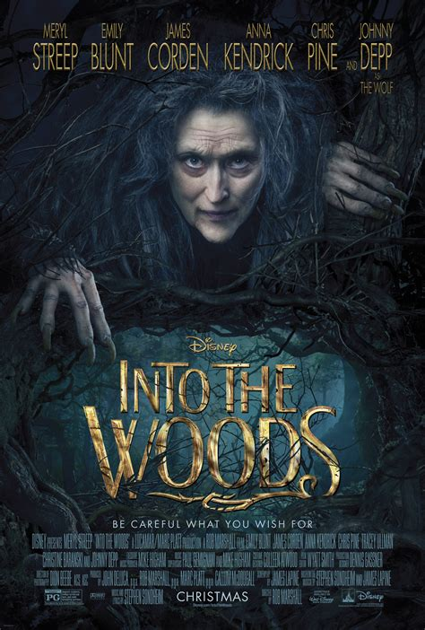 Meryl Streep Creeps Through First INTO THE WOODS Poster ...