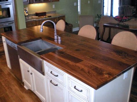 wood tops for kitchen islands sink cutouts in custom wood countertops 1951