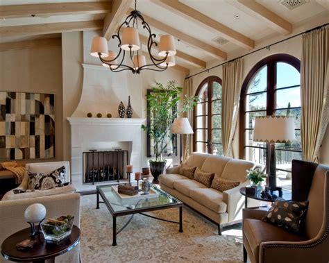 Classic Mediterranean House Plans Beige Modern Interior