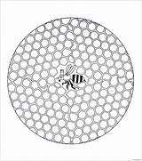 Bee Hive Pages Coloring Printable sketch template