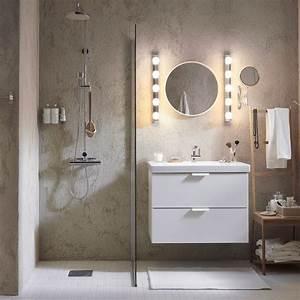 eclairage salle de bains marie claire With lumiere pour miroir salle de bain