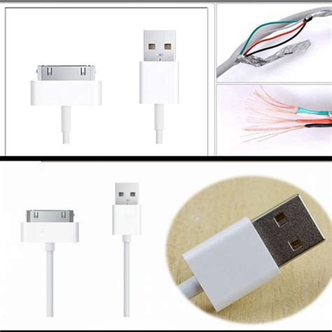 50pcs 1m 3ft colorful 30pin wire usb 2 0 data sync charger