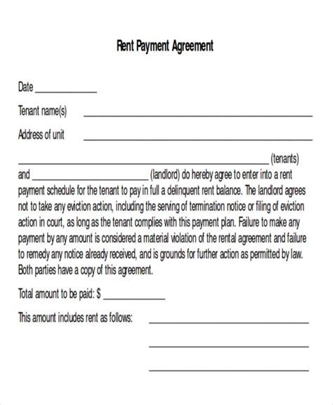 sample payment plan agreement templates  ms
