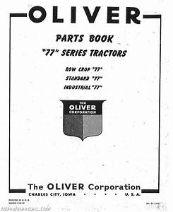 Oliver 77 Parts Manual