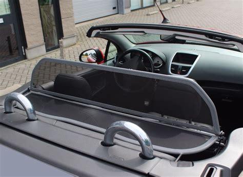 windschott peugeot 207 cc windschott filet saute vent gris peugeot 207 cc cabriolet