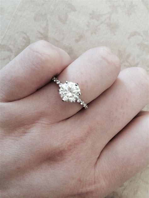 moissanite eng143 my dream ring palladium moissaniteco