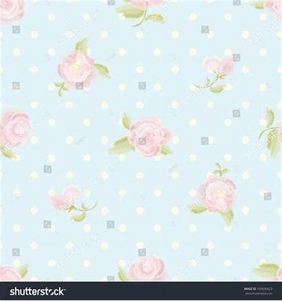 Rose Pattern Floral Vector Seamless Background Shutterstock