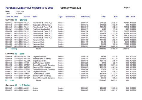 purchase ledger vintner systems