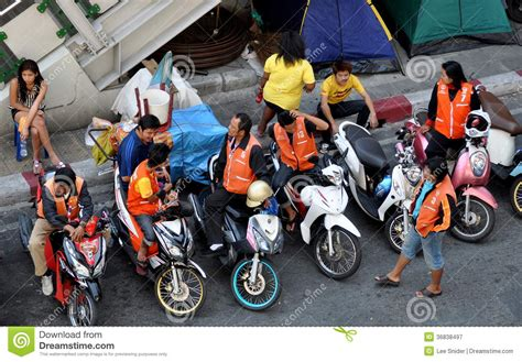 Motorcycle Taxi Drivers Editorial