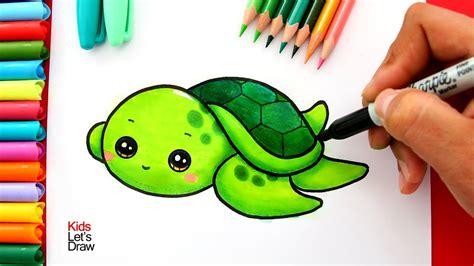 aprende  dibujar una tortuga marina bebe kawaii   draw  cute baby sea turtle youtube
