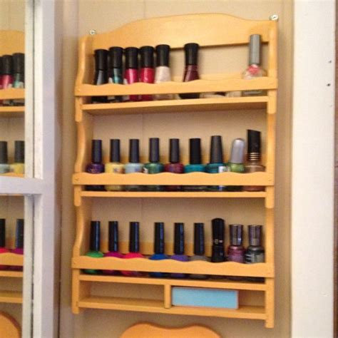 Spice Rack For Nail by Re Purposed Spice Rack Diy Nail Rack New Uses