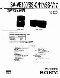 Sony Ss-cr370 Service Manual