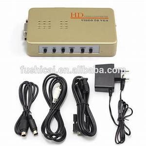 New Av To Vga Composite Converter Rca S-video Signal Adapter Switch Box Tv To Pc