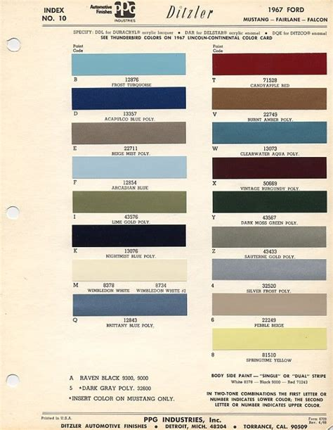 silver color code in paint ford econoline color 1967 search 1967 mustang mustang and ford