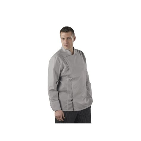 veste de cuisine homme veste de cuisine homme grise manches longues simple