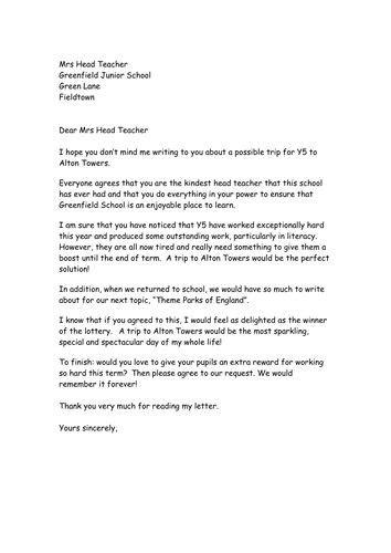 persuasive letter   box plan education
