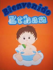 Imagenes de bienvenidos en foami para baby shower Imagui