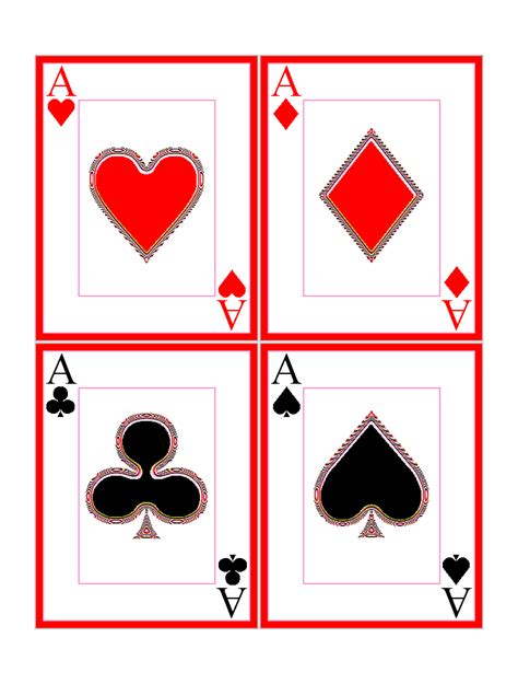 playing cards symbols   clip art