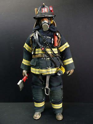 This firefighting uniform is made out of different types ...