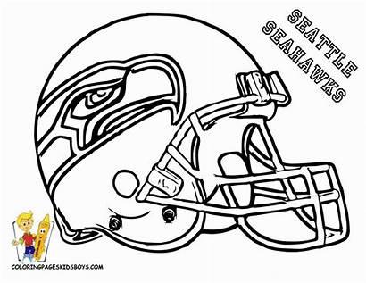 Coloring Football Pages Seahawks Nfl Helmet Printable