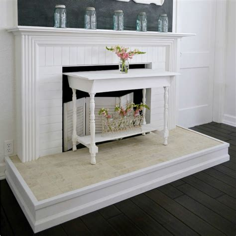 diy fireplace mantel  hearth makeover fox hollow cottage